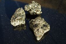 "IRON PYRITE 3/4 Lb Lots Natural Cocada Pyrite Crystal ""Fools Gold"" (3 LG Pieces)"