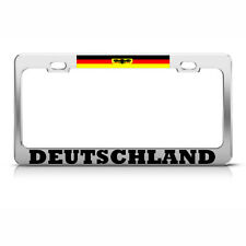GERMANY FLAG EAGLE DEUTSCHLAND License Plate Frame GERMAN PRIDE SUV Auto Tag