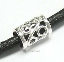 Sterling Silver Bead Flower Tube Bead 8.7mm For European Charm Bracelets