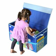 G.U.S. Deluxe Collapsible Kids Toy Box with Mesh Pockets - Blue - 40% BIGGER!