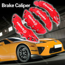 Red Brake Caliper Covers Brembo Style Universal Car Disc Front Rear Kits XT03