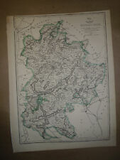 Bedfordshire Map byB.R.Davies Collectors' 1863 Dispatch Atlas Framed GBP 20 more
