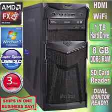 AMD FX 6300 6-Core Gaming Desktop PC Computer ~8 GB DDR3~1TB HDD~Windows 7 Pro