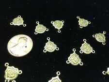 FIFTY (50) Gold-Plated Chandelier Findings or Rosary Centers