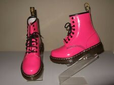 NEW Doc Dr.Martens Hot Pink Patent Leather Boots Womens Sz.4(UK)/ 6(US) Cute!