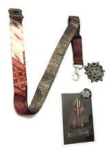 ASSASSINS CREED MOVIE METAL CHARM LOGO LANYARD BADGE ID HOLDER CLIP KEYCHAIN NWT