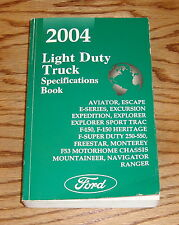 2004 Ford Light Duty Truck Specifications Book 04 F-150 F-250 Super Duty Ranger