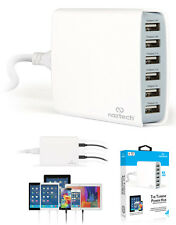 NAZTECH TURBINE 6-PORT USB FAMILY CHARGING HUB AC POWER FOR CELL PHONE TABLET
