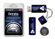 Encrypted 32GB USB Stick with 256 Bit Military Security. INFD32GCRYPTODL197