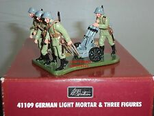 BRITAINS 41109 GERMAN LIGHT MORTAR GUN + CREW WW1 METAL TOY SOLDIER FIGURE SET