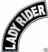 Lady Rider Patch Top Rocker Black Back Patches for Vest Jacket