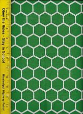 QUILT FABRIC: 100% COTTON, KELLEY GREEN HONEYCOMB, By The Yard