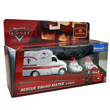 Disney Pixar Cars Rescue Squad Mater 3 Pack | Ambulance, Dalmation Mia & Tia
