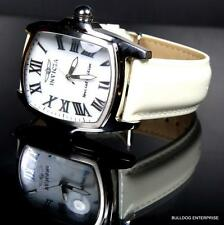 Invicta Grand Lupah Set White MOP Silver Tone With 3 Leather Bands Watch New