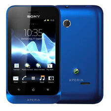 Sony XPERIA TIPO st21i Navy Blue Blu Android con branding senza SIM-lock NUOVO