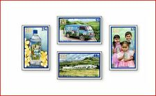 FIJ0207 Natural mineral water from Fiji 4 stamps