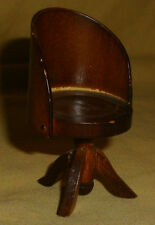VINTAGE Wooden Wood MINIATURE Dollhouse Office CHAIR 2 3/4""