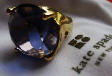 GOBSTOPPING Kate Spade Crystal Confection 5 6 7 Gold AMETHYST PURPLE Stone Ring