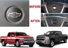 Flat Black Steering Wheel Vinyl Bowtie For 2007-2013 Chevrolet Silverado New USA