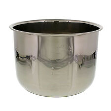 6 QT Stainless Steel Removable Electric Pressure Cooker Cooking Pot Insert