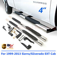 "For 99-13 Chevy Silverado/Sierra 1500/2500/3500 Ext Cab 4"" Side Step Nerf Bars"