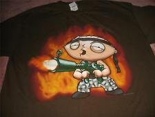Family Guy Stewie as Rambo Adult Large T Shirt