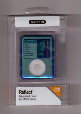 GRIFFIN REFLECT Mirrored Case 4 iPod NANO Blue 3G 8172