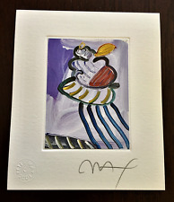 PETER MAX *Original Pencil Signed Art with 2001 Official Studio Embossed Seal.