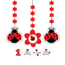 Ladybug Fancy Hanging Cutouts Baby Shower Birthday Party Supplies Decorations