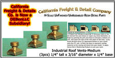 Industrial Roof Vents-Medium (3pcs) N/Nn3/1:160-Scale California Freight nbPR6