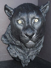 """NIGHT VISION  Large Hanging Panther Head  Statue Figurine  H16"""" x D7.5"""" x W11"""""""