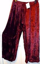 RED VELVET HIPPIE FESTIVAL PULL ON WRAP SARONG SPLIT LEG TROUSERS FREE SIZE #338