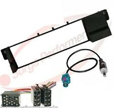 Radioblende 1 DIN BMW 3 E46 und Antenneadapter DIN - Fakra + ISO Adapter -  2002