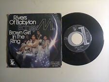 "Boney M.‎–Rivers Of Babylon/Brown Girl In The Ring-Disco 45 Giri 7"" Italia1978"