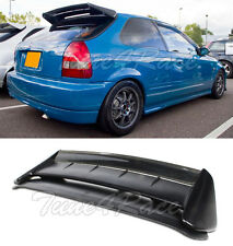 For 96-00 Civic EK9 Roof Spoiler Wing SEEKER Style Carbon + Type R FRP Base 3Dr