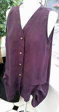 MINA UK Purple Size 12 Ladies Sheer Blouse ~ Pretty Buttons