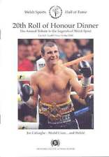 Welsh Sports Hall of Fame 20th Roll of Honour Dinner Menu Prog 2008, Cardiff