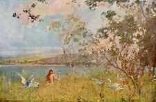 ALFRED EAST 1897 Oil Painting AN IDYLL OF SPRING Vintage Artwork 1930 Book Print