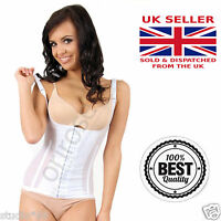 SLIMMING BODY Waist Cincher Strap CORSET Hook Boned Vest Shaper Underbust BLACK