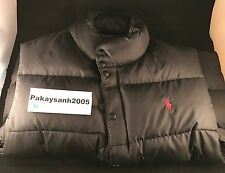 Worn Mens Polo Ralph Lauren Bubble Vest Black Size Large