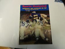 1970 Sports Illustrated Minnesota And CLeveland On Top Cover January 5th
