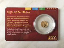 "0,5g 99999 Gold ""Ballerina"" 5 Dollar Cook Islands 2011 PP Goldmünze Coincard"