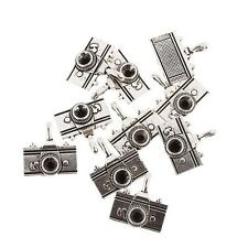 camera Tibetan Silver Bead charms Pendants fit bracelet 5pcs 20*20mm