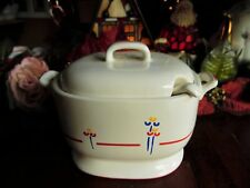 3 PC RIVA DESIGNS TULIPS SAUCE OR GRAVY OR SOUP TUREEN SET LID LADLE MADE JAPAN