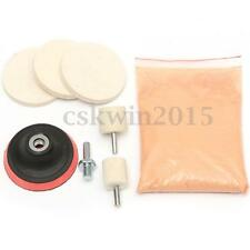 8PCS Glass Scrach Remover With 8 OZ Cerium Oxide Powder Polishing Kit 3'' Wheel