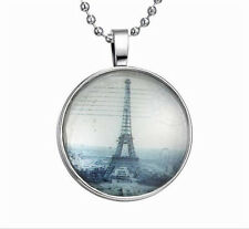 Vogue Punk Style Eiffel Tower Glow in the Dark Stainless Steel Necklace Pendant