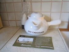 NEW IN BOX HOT CHOCOLATE MAKER POT AND FROTHER FROM LAROMA