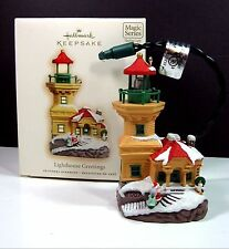 2007 LIGHTHOUSE GREETINGS Hallmark Keepsake Ornament MAGIC Flashing Light 11th