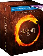 Hobbit Trilogy 1-3 2D+3D Blu ray Box set+ Digital Downloadable UV Copy New
