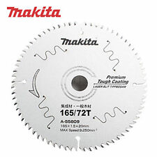 Makita A-55809 6-1/2inch 165mm 72T 9,250rpm Laser Slit Tipped Circular Saw Blade